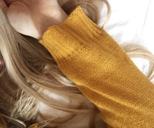 yellow, aesthetic, and blonde image