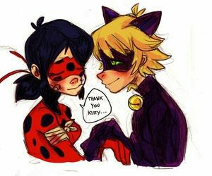 Adrien, ladybug, and miraculous image