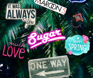 Collage, maroon 5, and v image