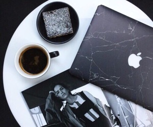 coffee, black, and macbook image