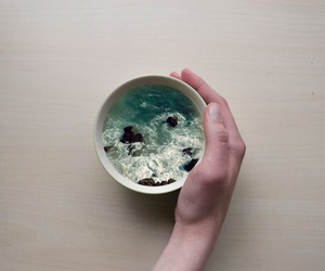 sea, cup, and art image