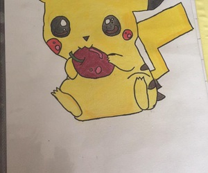 dessin, draw, and pikachu image