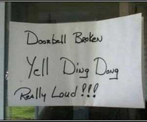 funny, doorbell, and lol image