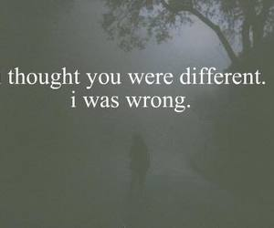 quotes, different, and sad image