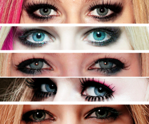 Avril Lavigne, eye, and eyes image