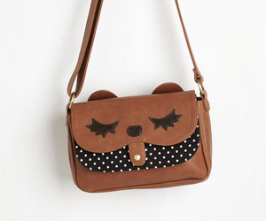 bag, dots, and leather image