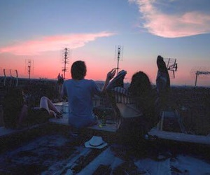 outdoors, teenagers, and sky image