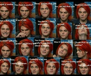 gerard way, my chemical romance, and Cookies image