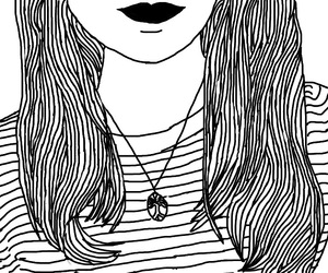 art, black and white, and outlines image
