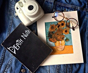 aesthetics, death note, and instax image