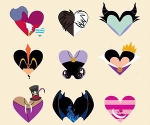 disney, villain, and heart image