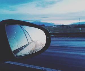 car and rain image