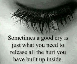 cry, sad, and hurt image