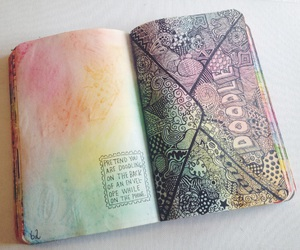 art, colors, and doodle image