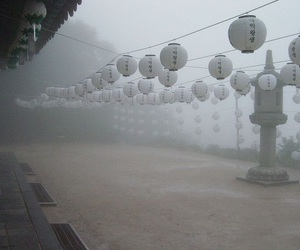 fog, pale, and japan image