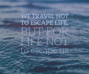 blue, escape, and life image