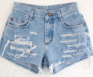 cutoffs, denim, and distressed image