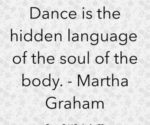 Martha Graham and quotes dance image