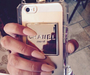 chanel, nails, and iphone image