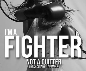 fighter, fitness, and motivation image