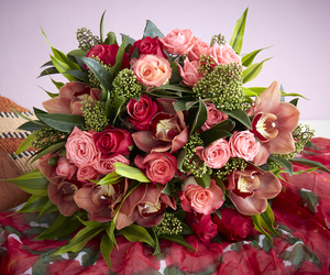 flowers, roses, and rose bouquet image