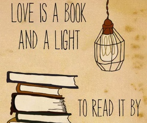 book, love, and light image