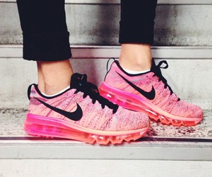 nike, pink, and flyknit image