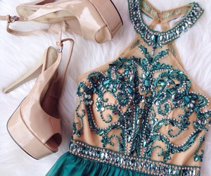 beaded, beads, and dresses image