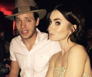 lily collins, dominic sherwood, and shadowhunters image