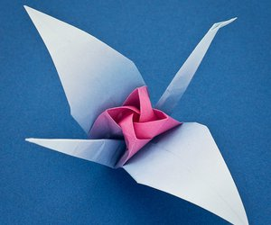 clicca, origami tsuru rose, and scroll down for diagrams image