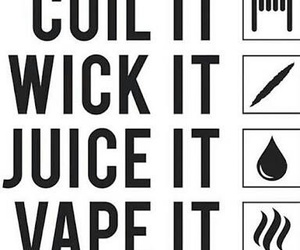 coil, wick, and vape image