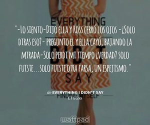 everything, lost, and wattpad image