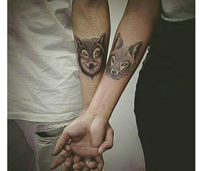 Tattoos and wolf image