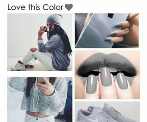 grey, nails, and shoes image