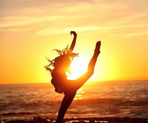 dance, beach, and sunset image