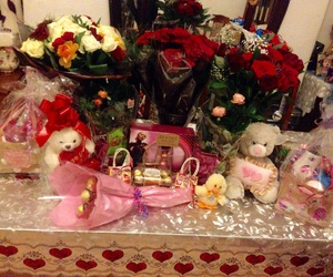 chocolate, gifts, and roses image