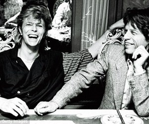 david bowie, mick jagger, and bowie image