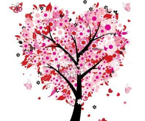 tree, love, and pink image