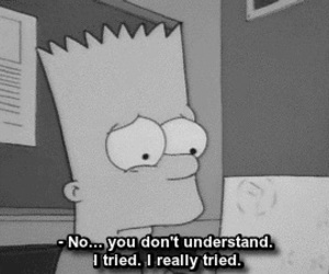sad, simpsons, and quotes image