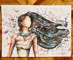 pocahontas, art, and drawing image