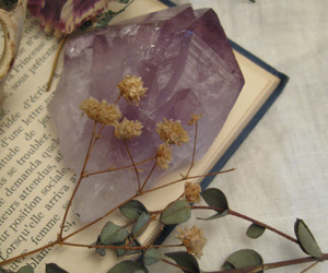purple, book, and crystal image