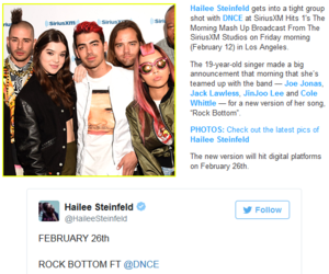 announcement, rock bottom, and dnce image