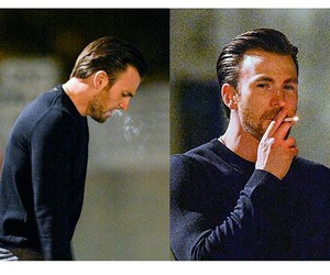 chris evans and cigarette image