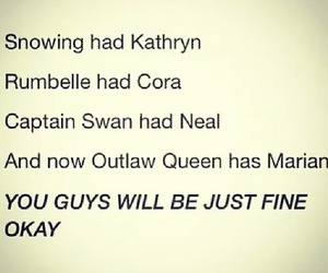 snowing, captainswan, and outlawqueen image