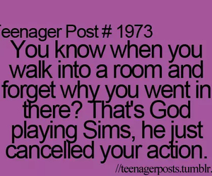 sims, god, and teenager post image