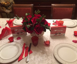 chocolate, couples, and dinner image