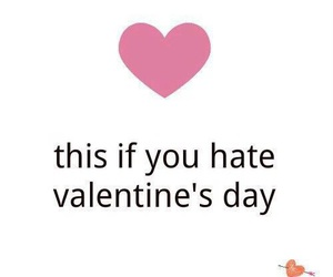 hate, heart, and valentine image