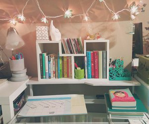 desk, study, and cute image