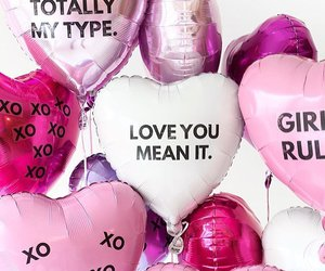 balloons, pink, and love image