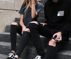 couple, black, and vans image